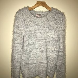 Forever 21 Gray Fuzzy Sweater